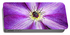Clematis Close Up Portable Battery Charger by Kristin Elmquist