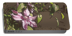 Clematis Portable Battery Charger by Jodie Marie Anne Richardson Traugott          aka jm-ART