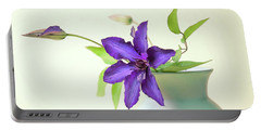 Clematis Still Life Portable Battery Charger