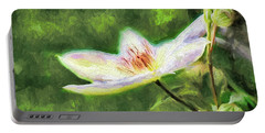 Clematis Study Portable Battery Charger