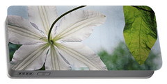 Portable Battery Charger featuring the photograph Clematis Vine And Leaves by Michelle Calkins
