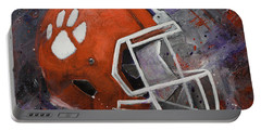 Clemson Tigers Football Helmet Original Painting Portable Battery Charger