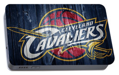 Cleveland Cavaliers Barn Door Portable Battery Charger by Dan Sproul