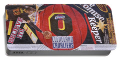 Portable Battery Charger featuring the painting Cleveland Cavaliers 2016 Champs by Colleen Taylor