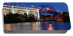Cleveland Colored Bridges Portable Battery Charger