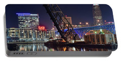Portable Battery Charger featuring the photograph Cleveland Flats East Bank by Frozen in Time Fine Art Photography