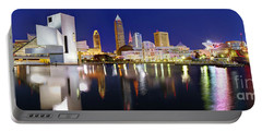 Cleveland Skyline At Dusk Portable Battery Charger