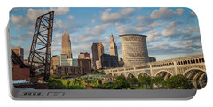 Cleveland Summer Skyline  Portable Battery Charger