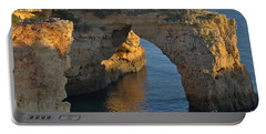 Cliff Arch In Albandeira Beach During Sunset 2 Portable Battery Charger by Angelo DeVal