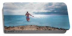 Cliff Jumping Portable Battery Charger
