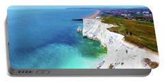 Portable Battery Charger featuring the photograph Cliff Landscape by Francesca Mackenney
