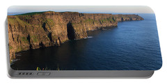 Cliffs Of Moher In Evening Light Portable Battery Charger by Aidan Moran