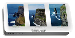 Cliffs Of Moher Ireland Triptych Portable Battery Charger