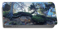 Portable Battery Charger featuring the photograph Cliffside by Adria Trail
