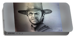 Clint Eastwood Portrait  Portable Battery Charger
