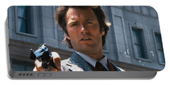 Clint Eastwood With 44 Magnum Dirty Harry 1971 Portable Battery Charger