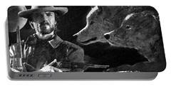 Clint Eastwood With Wolves Portable Battery Charger
