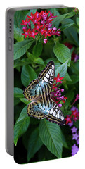 Clipper Butterfly On Star Flower Portable Battery Charger