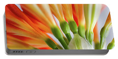Clivia Miniata 5 Portable Battery Charger by Shirley Mitchell