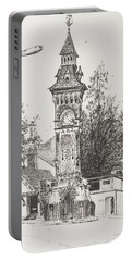 Clock Tower  Hay On Wye Portable Battery Charger