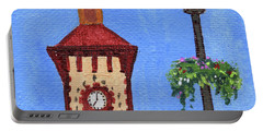 Clock Tower Impressionistic Landscape Xxxvii Portable Battery Charger