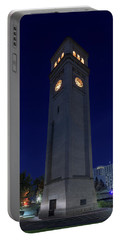 Clock Tower Spokane W A Portable Battery Charger