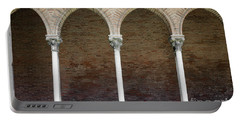 Portable Battery Charger featuring the photograph Cloister With Arched Colonnade by Elena Elisseeva