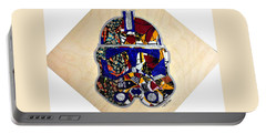 Portable Battery Charger featuring the tapestry - textile  Clone Trooper Star Wars Afrofuturist by Apanaki Temitayo M
