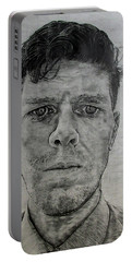 Close Self Portrait Portable Battery Charger by Denny Morreale