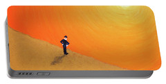 Portable Battery Charger featuring the painting Close To The Edge by Thomas Blood