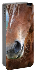 Close - Up Of A Horse Portable Battery Charger