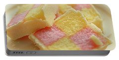 Close Up Of Battenberg Cake E Portable Battery Charger
