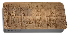 Close-up Of Carvings On A Wall, Temple Portable Battery Charger