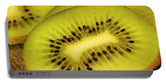 Close Up Of Kiwi Slices Portable Battery Charger