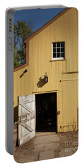 Close Up Of Landis Valley Yellow Barn Portable Battery Charger