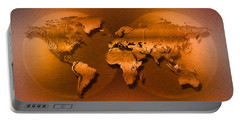 Close-up Of Map Of World Portable Battery Charger