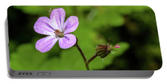 Close Up Of Shining Cranesbill A Portable Battery Charger
