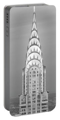 Close Up Of The Chrysler Building At Sunset. It Is The View From 42nd Street And 5th Avenue. Portable Battery Charger by Panoramic Images