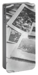 Close Up On Old Black And White Photographs Portable Battery Charger
