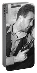 Close-up Up Of Humphrey Bogart As Duke Mantee With Gun The Petrified Forest 1936 Portable Battery Charger
