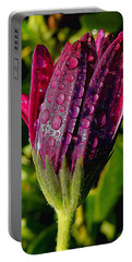 Closed Daisy With Rain Drops Portable Battery Charger