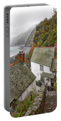 Portable Battery Charger featuring the photograph Clovelly Coastline by RKAB Works