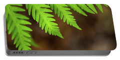 Portable Battery Charger featuring the photograph Closeup Macro Of Green Leaves Show Textured Of The Organs With S by Jingjits Photography