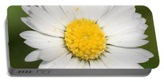 Closeup Of A Beautiful Yellow And White Daisy Flower Portable Battery Charger