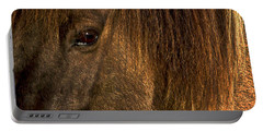 Closeup Of An Icelandic Horse #2 Portable Battery Charger