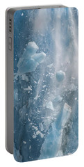 Closeup Of Dawes Glacier Calving Portable Battery Charger