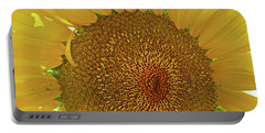 Closeup Sunflower Portable Battery Charger