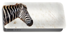 Closeup Zebra Horizontal Banner Portable Battery Charger by Susan Schmitz