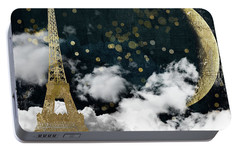 Cloud Cities Paris Portable Battery Charger by Mindy Sommers