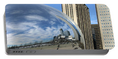 Cloud Gate Reflections Portable Battery Charger by Kristin Elmquist
